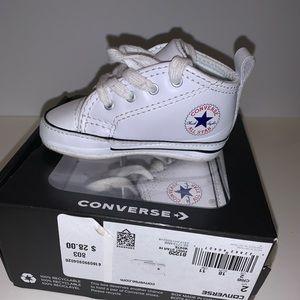 First Star Hi White Converse
